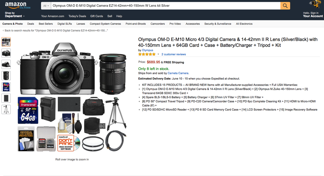 OM-D E-M10 EZ double zoom kit silver_amazon